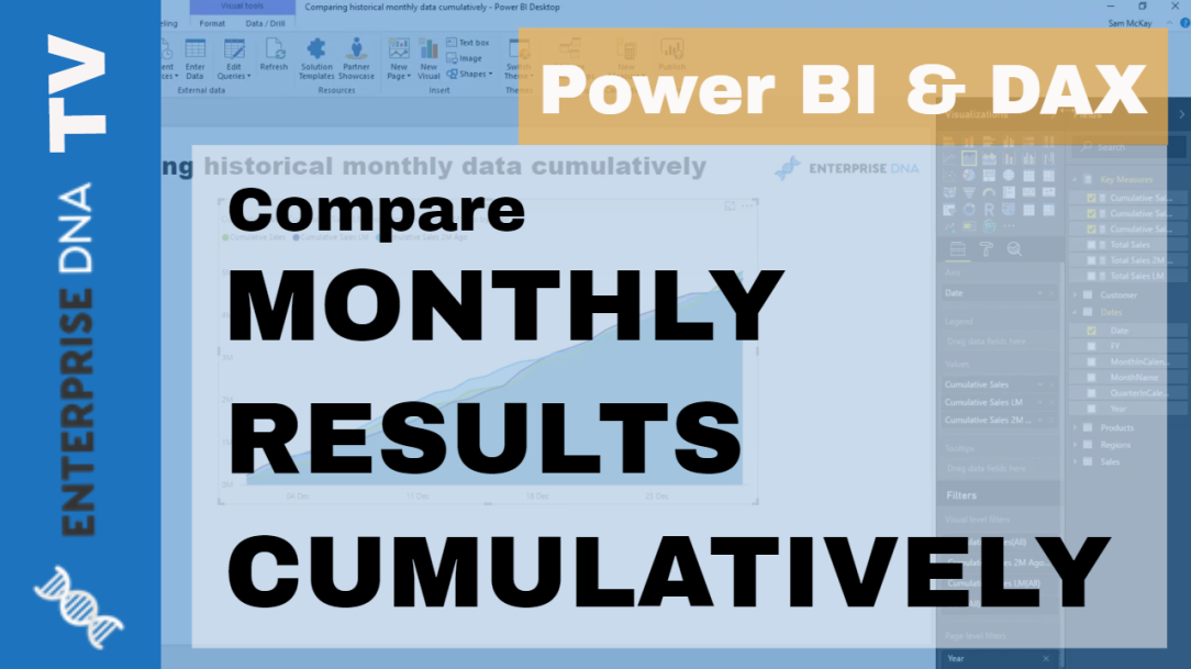 Cumulatively Compare Information Over Different Months