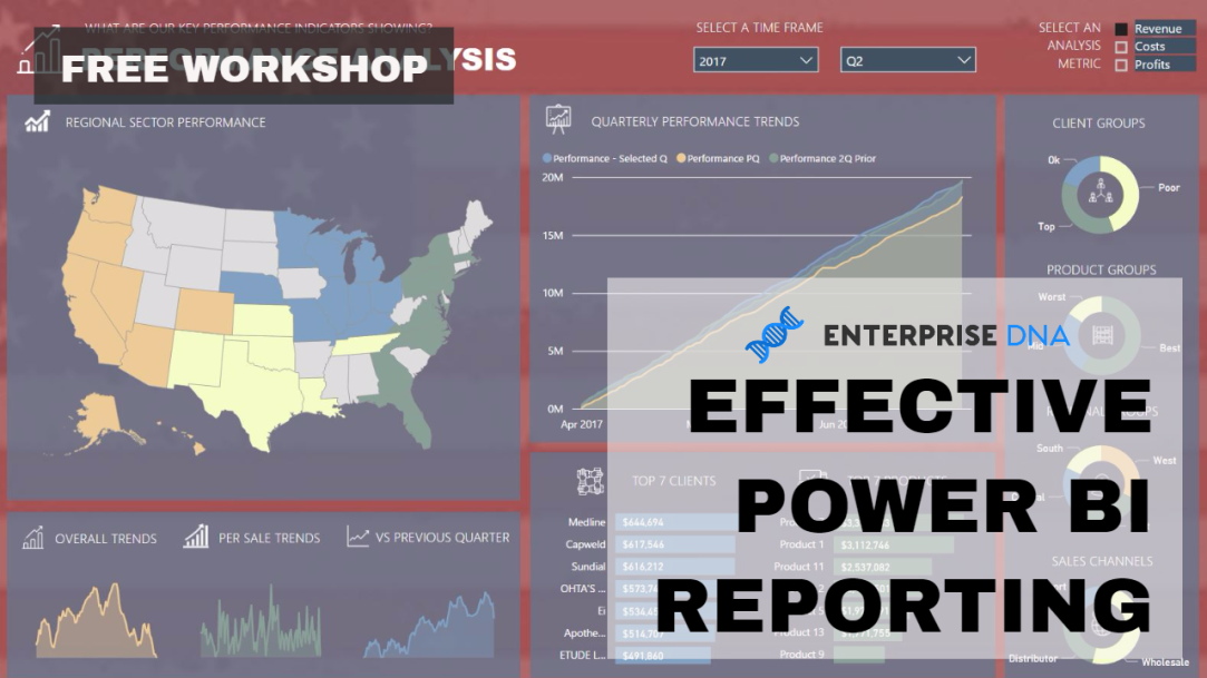 Latest FREE Workshop Announcement - Effective Power BI Reporting