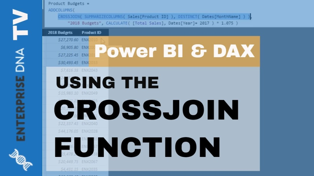 How To Use The CROSSJOIN Function - Power BI & DAX Tutorial