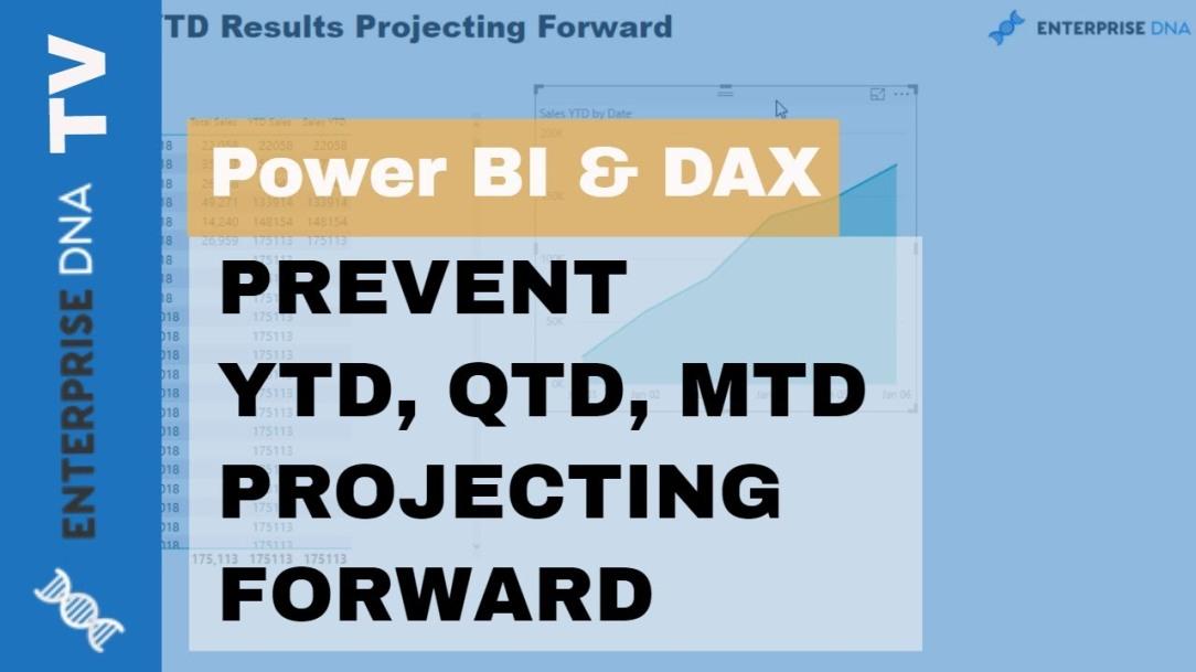 Prevent YTD, QTD, MTD Results Extending Forward In Power BI
