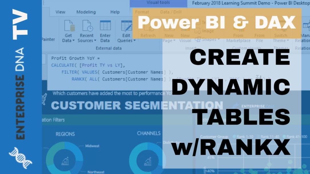 Creating Dynamic Ranking Tables Using RANKX In Power BI