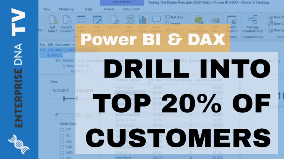 Who Are Your Top 20% Of Customers Based On Any Metric - Quality Power BI Insights