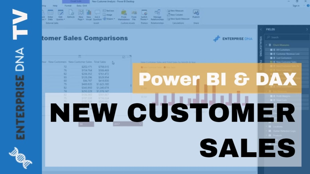 Discover How Many Sales Can Be Attributed To New Customers - Advanced Power BI Insights