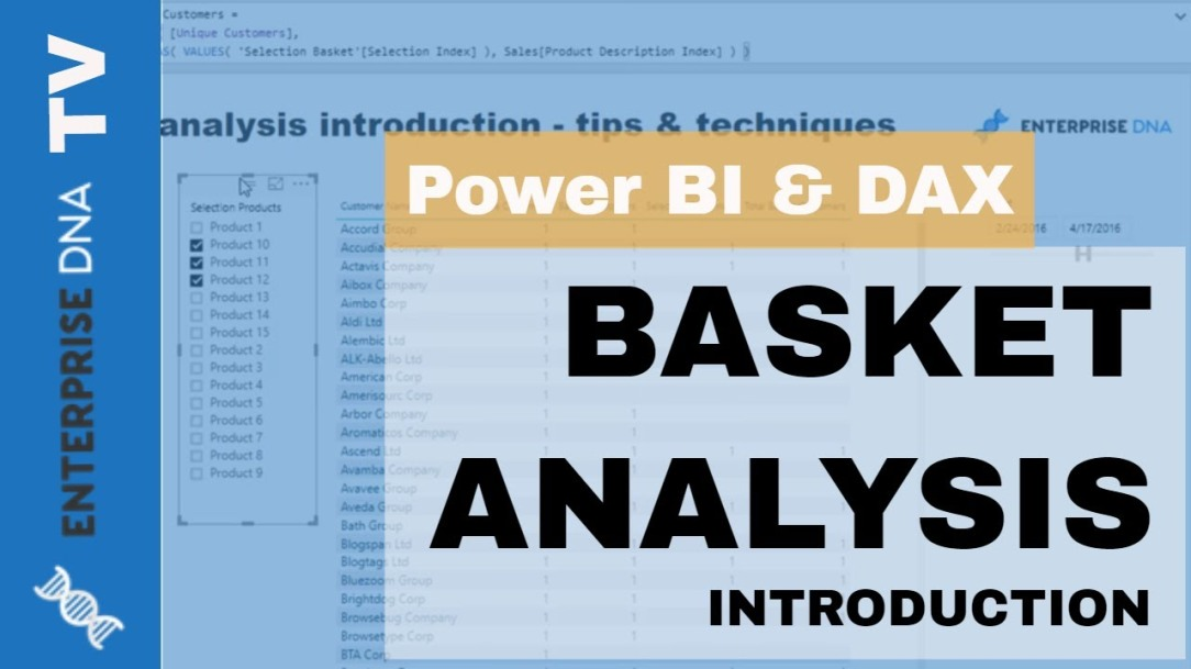 Basket Analysis For Power BI Using DAX