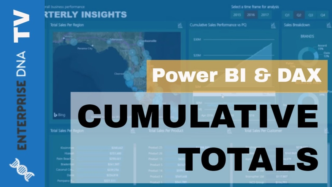 Create Dynamic Cumulative Totals Using DAX In Power BI